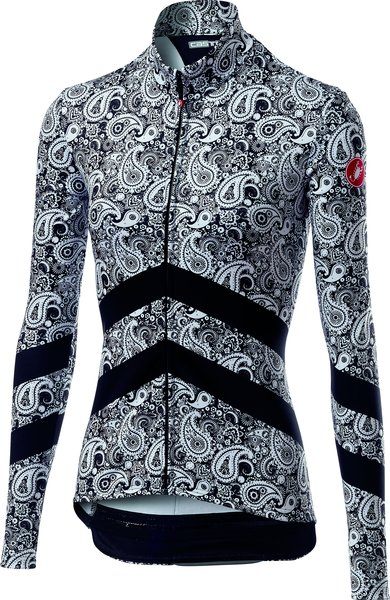Castelli Goccia Jersey FZ Color: Black/White