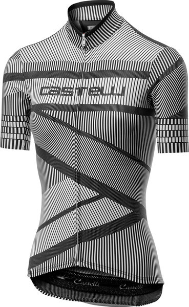 Castelli Millerighe Jersey FZ Color: White/Black