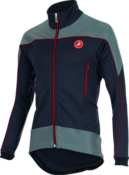 Castelli Mortirolo Reflex Jacket Color: Anthracite/Red/Reflex