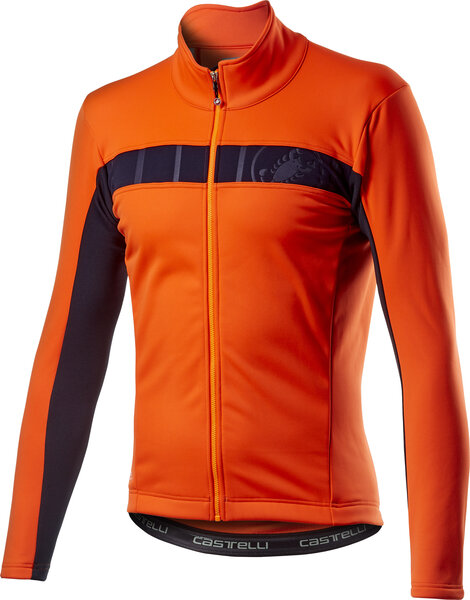 Castelli Mortirolo VI Jacket Color: Orange
