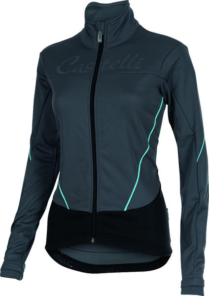 Castelli Mortirolo W Jacket Color: Turbulence/Pastel Blue