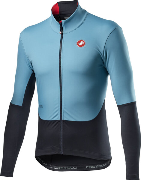 Castelli Nano Mid Wind Jersey Color: Celeste Dark Gray