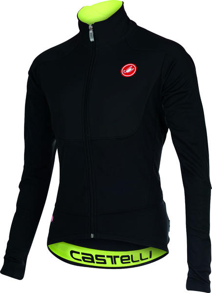 Castelli Passo Giau Jacket Color: Black/Yellow Fluo