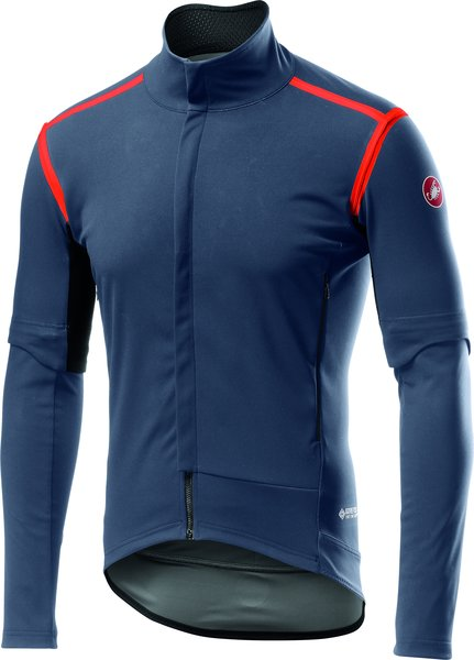 Castelli Perfetto RoS Convertible Jacket Color: Dark Steel Blue