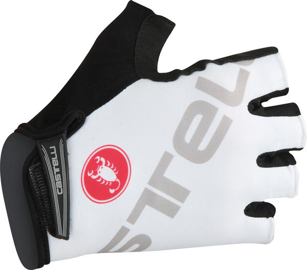 Castelli Tempo V Gloves Color: White/Gray