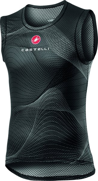 Castelli Pro Mesh Sleeveless Color: Light Black