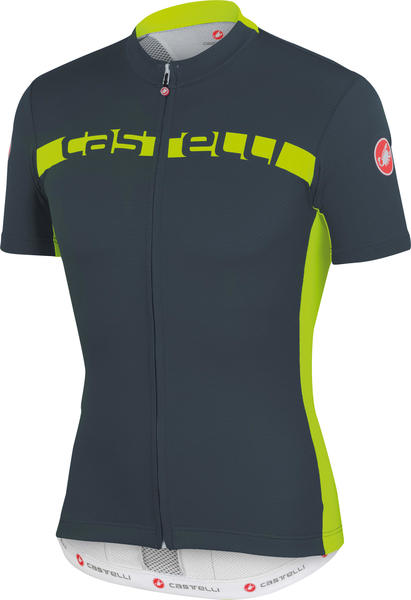 Castelli Prologo 4 Jersey FZ Color: Turbolence/Yellow Fluo