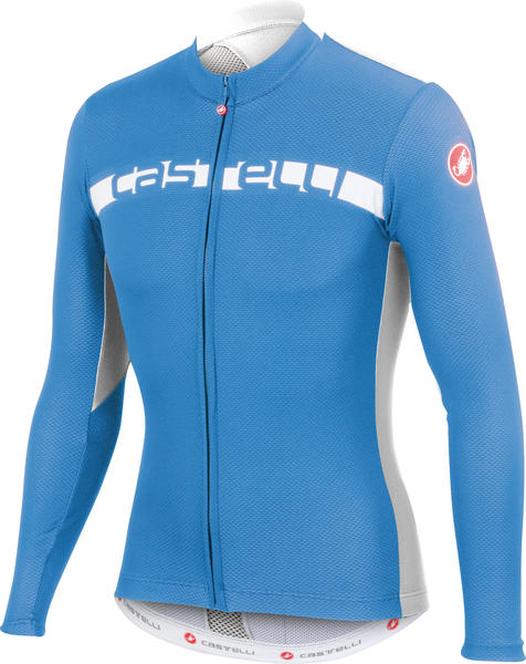 Castelli Prologo 4 Long-Sleeve Jersey FZ Color: Drive Blue/White