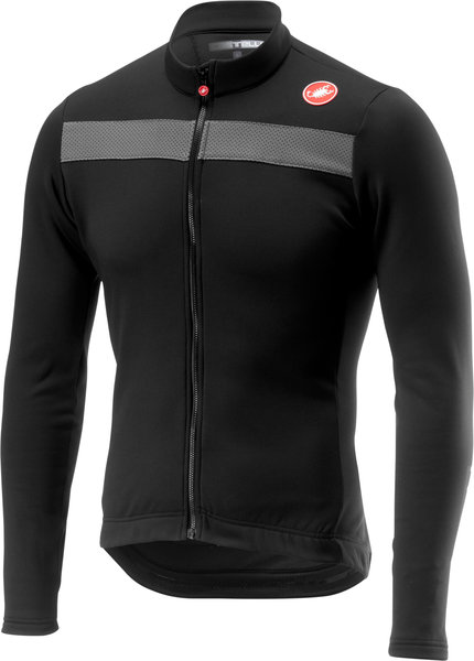 Castelli Puro 3 Jersey FZ Color: Light Black