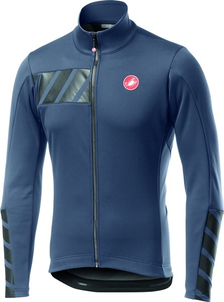 Castelli Raddoppia 2 Jacket Color: Dark Steel Blue