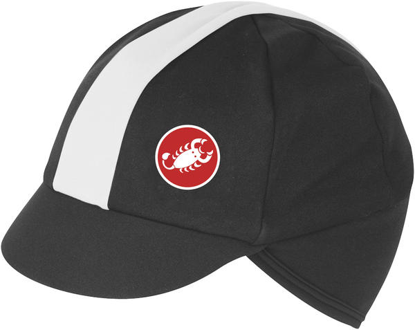 Castelli Risvolto Winter Cap Color: Black/White