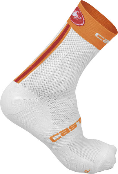 Castelli Free 9 Socks Color: Mandarin