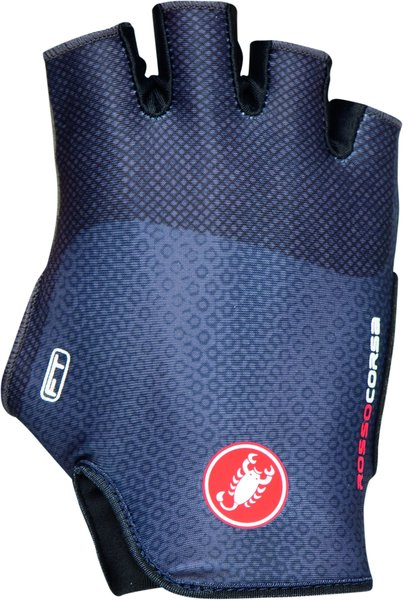 Castelli Rosso Corsa Free Glove Color: Dark Steel Blue