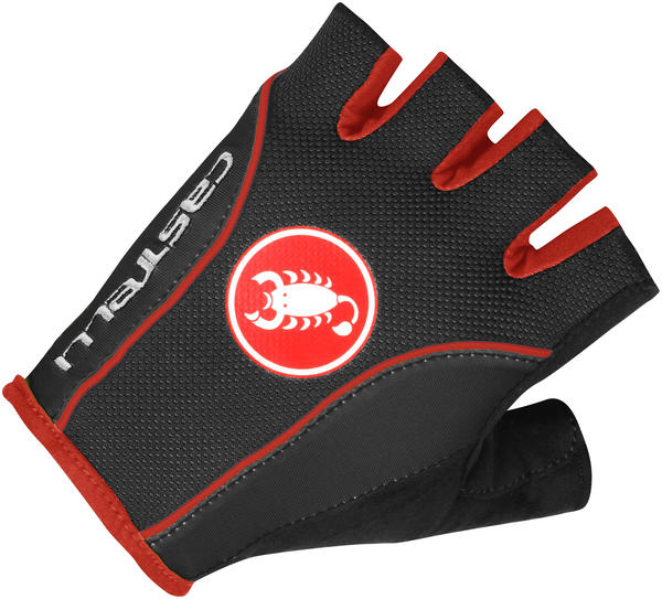 Castelli Free Glove Color: Black/Black/Red