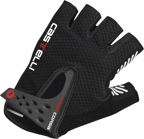 Castelli S. Rosso Corsa Gloves Color: Black/Black