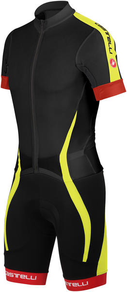 Castelli Velocissimo Sanremo Speed Suit Color: Black/Yellow Fluo