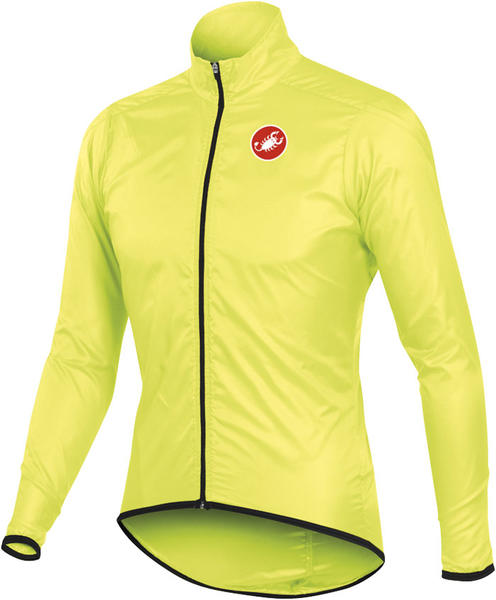 Castelli Squadra Long Jacket Color: Yellow Fluo