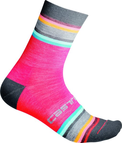Castelli Striscia 13 Sock Color: Brilliant Pink