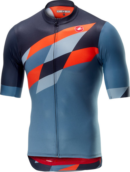 Castelli Tabula Rasa Jersey FZ Color: Multicolor/Blue/Orange