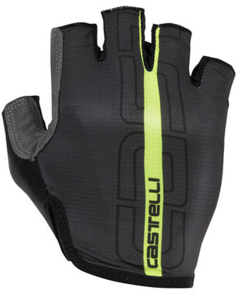 Castelli Tempo Glove Color: Anthracite/Yellow Fluo