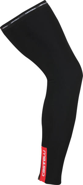 Castelli Thermoflex Leg Warmers Color: Black/Red