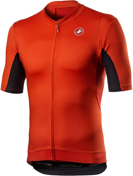 Castelli Vantaggio Jersey Color: Fiery Red/Black
