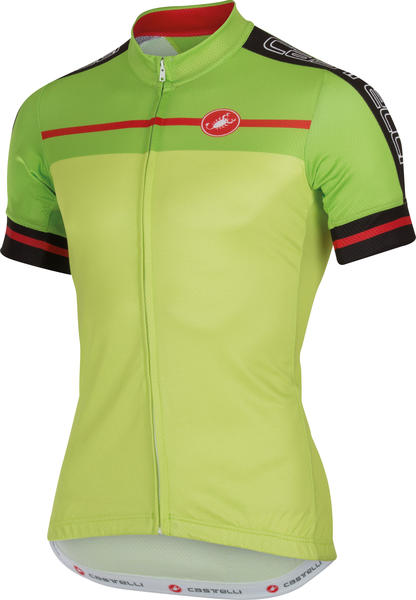 Castelli Velocissimo Jersey FZ Color: Lime