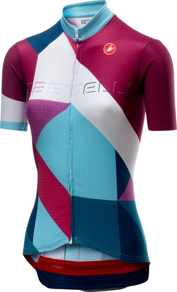 Castelli Ventata Jersey FZ Color: Multicolor/Dark Steel Blue