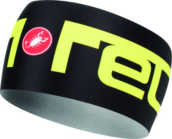 Castelli Viva2 Thermo Headband Color: Black/Yellow Fluo