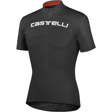 Castelli Prologo HD Jersey Color: Black/Black/Red