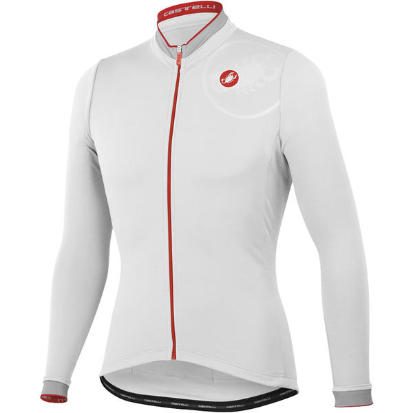 Castelli GPM Long Sleeve Jersey FZ Color: White