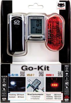 CatEye Go Kit (EL135 Headlight/Velo 7 Computer/Omni 3 Taillight)