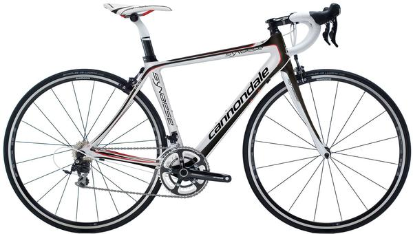 Cannondale Women's Synapse Carbon 5 Color: Magnesium White/Jet Black/Ruby Red