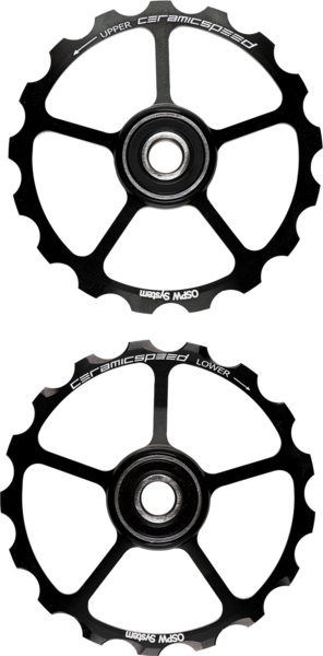 CeramicSpeed Oversized Pulley Wheels 17-Tooth Color: Black