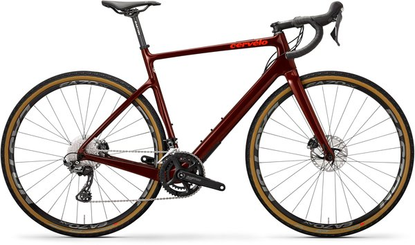 Cervelo Aspero GRX Color: Burgundy/Dark Orange