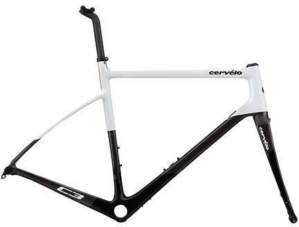 Cervelo C3 Disc Frameset Color: White/Grey/Black