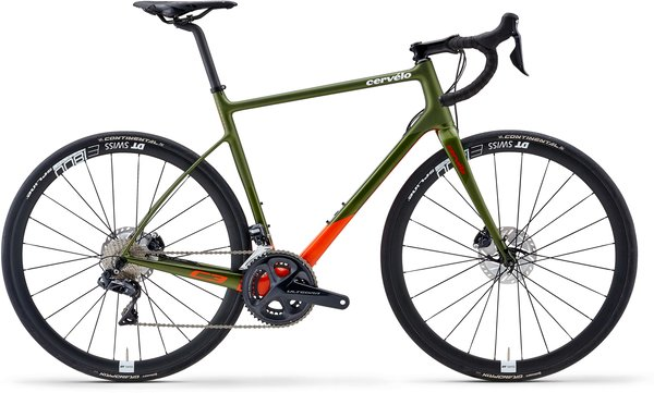 Cervelo C3 Ultegra Di2 Color: Olive/Orange/Red