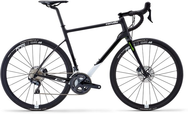 Cervelo C3 Ultegra Color: Black/White/Green
