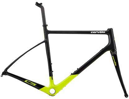 Cervelo C5 Disc Frameset Color: Black/Fluoro