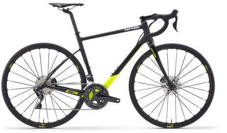 Cervelo C5 Ultegra Di2 Disc Color: Grey/White/Fluoro