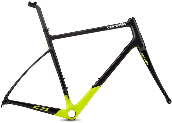 Cervelo C5 Frameset Color: Black/Fluoro