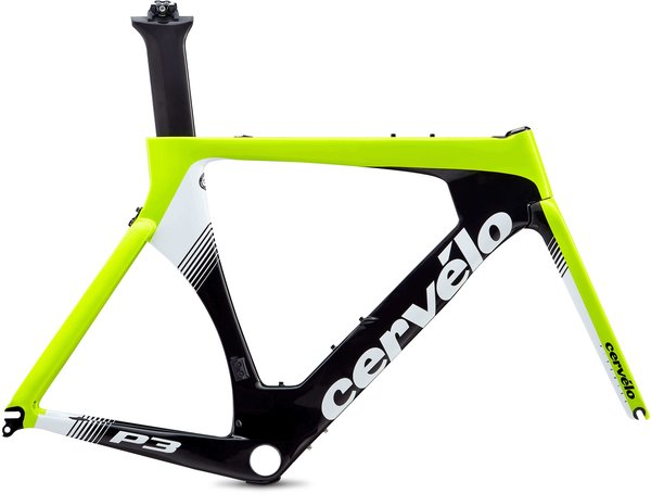 Cervelo P3 Frameset Color: Fluoro/Black/White