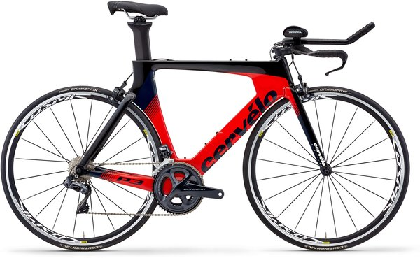 Cervelo P3 Ultegra Di2 Color: Black/Red/Navy