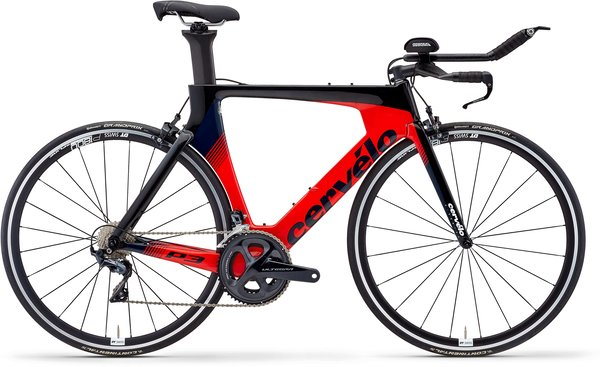 Cervelo P3 Ultegra Color: Black/Red/Navy