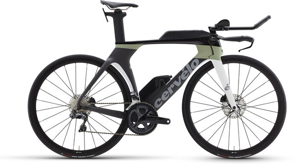 Cervelo P5 Ultegra Di2 Color: Carbon/Moss/White