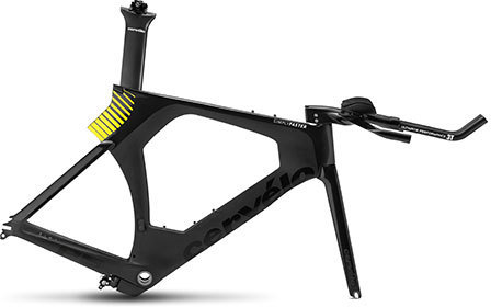 Cervelo P5 Frameset Color: Black/Fluoro