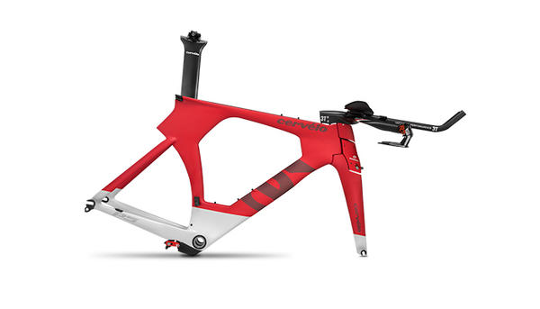 Cervelo P5 Six Frameset Color: Red/White