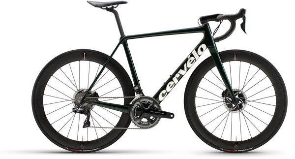 Cervelo R5 Disc Dura Ace Di2 Color: Green/Gold/White