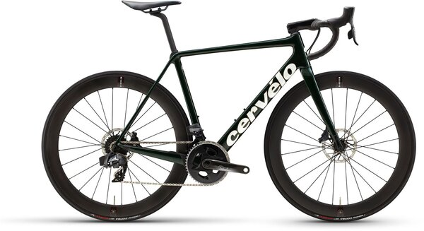 Cervelo R5 Disc Force eTap AXS Color: Green/Gold/White