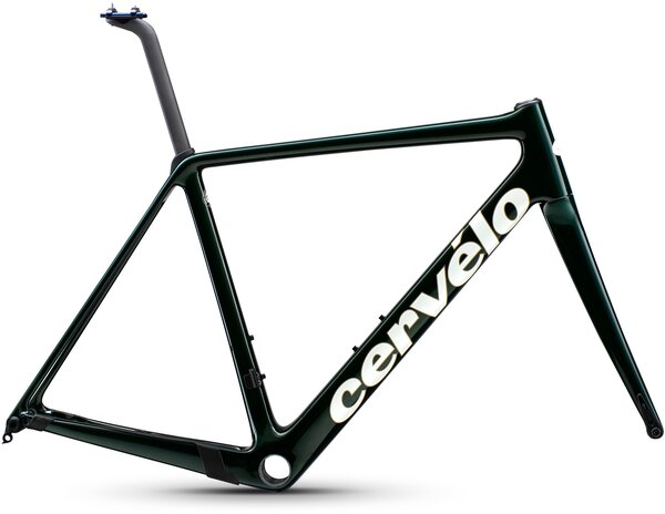 Cervelo R5 Disc Frameset Color: Green/Gold/White